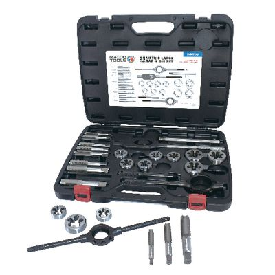25 PIECE METRIC LARGE TAP AND DIE SET | Matco Tools