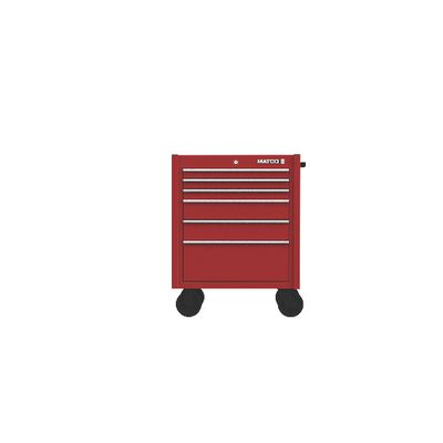 "4S SINGLE BAY 22"" TOOL BOX FIRE RED WITH CHROME TRIM 