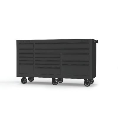 "4S TRIPLE BAY 25"" TOOLBOX OUTLAW BLACK WITH BLACK TRIM 