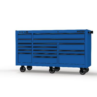 "4S TRIPLE BAY 25"" TOOLBOX SAPPHIRE BLUE WITH BLACK TRIM 