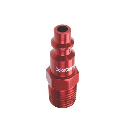 "1/4"" NPT MALE RED PLUG 
