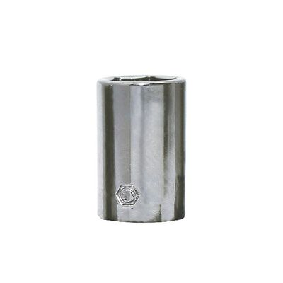 "1/4"" DRIVE 10MM METRIC 6 POINT CHROME SOCKET 