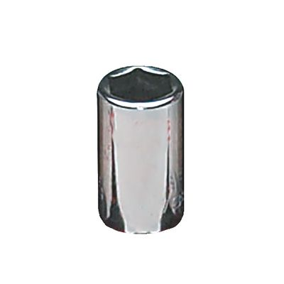 "1/4"" DRIVE 3/8"" SAE 6 POINT CHROME SOCKET 