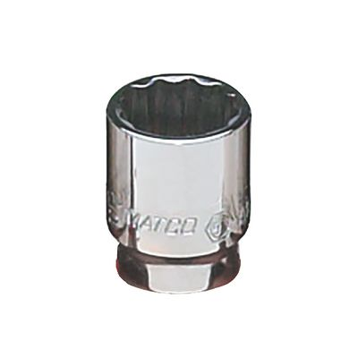 "1/4"" DRIVE 7/16"" SAE 12 POINT CHROME SOCKET 
