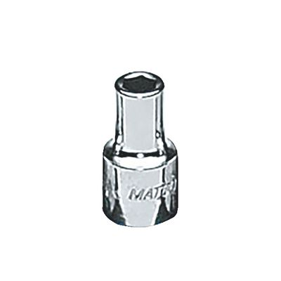 "1/4"" DRIVE 4MM METRIC 6 POINT CHROME SOCKET 