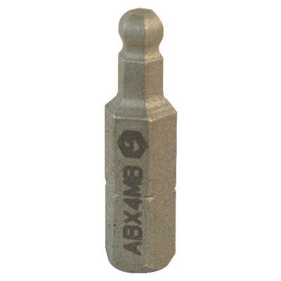 "1/4"" DRIVE4MM METRIC BALL HEX REPLACEMENT BIT 