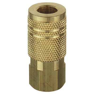"1/4"" BRASS NPT FEMALE COUPLER 