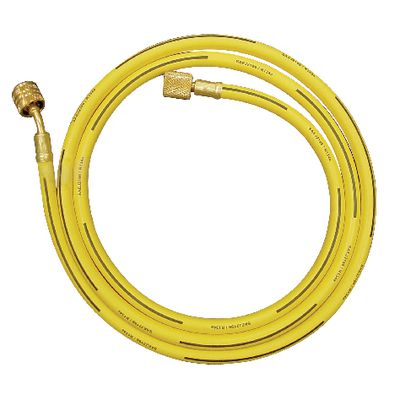 "72"" R134A YELLOW HOSE WITH SHUT-OFF VALVE 