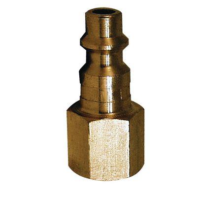 "1/4"" BRASS NPT FEMALE COUPLER PLUG 