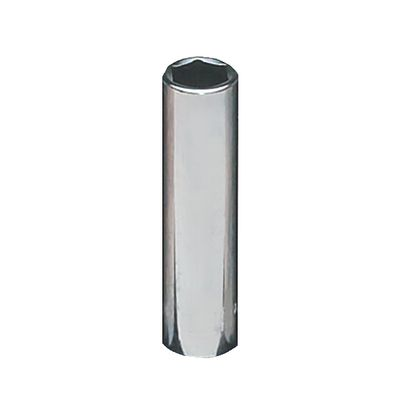 "1/4"" DRIVE 10MM METRIC 6 POINT DEEP CHROME SOCKET 