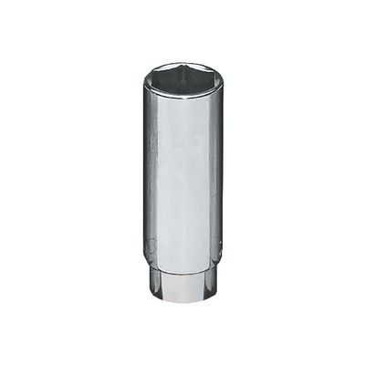 "1/4"" DRIVE 15MM METRIC 6 POINT DEEP CHROME SOCKET 