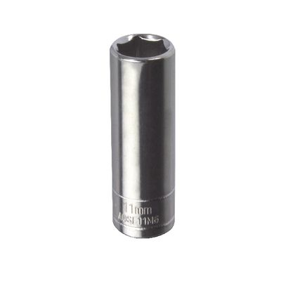 "1/4"" DRIVE SILVER EAGLE 11MM METRIC 6 POINT DEEP CHROME SOCKET 