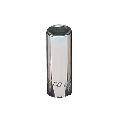 "1/4"" DRIVE 3/8"" SAE 6 POINT MID-LENGTH CHROME SOCKET 