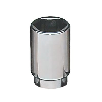 "1/4"" DRIVE 15MM METRIC 6 POINT MID-LENGTH CHROME SOCKET 