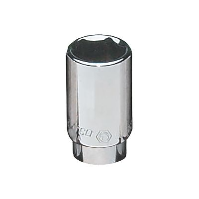"1/4"" DRIVE 1/2"" SAE 6 POINT MID-LENGTH CHROME SOCKET 