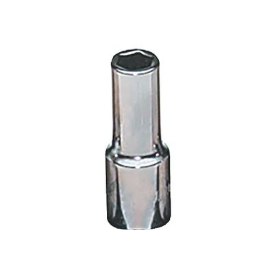 "1/4"" DRIVE 6MM METRIC 6 POINT MID-LENGTH CHROME SOCKET 