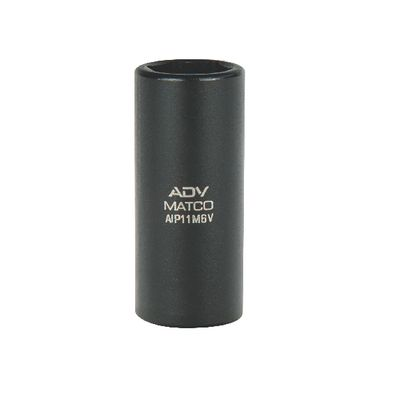 "1/4"" DRIVE 11 MM METRIC 6 POINT MID-LENGTH IMPACT SOCKET 