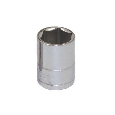 "1/4"" DRIVE SILVER EAGLE 12MM METRIC 6 POINT CHROME SOCKET 