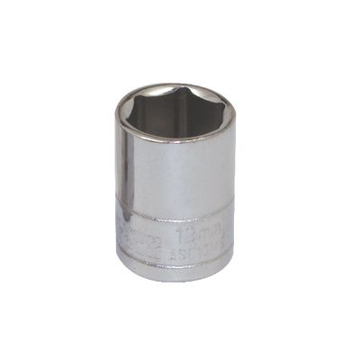 "1/4"" DRIVE SILVER EAGLE 13MM METRIC 6 POINT CHROME SOCKET 