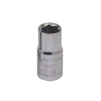 "1/4"" DRIVE SILVER EAGLE 7MM METRIC 6 POINT CHROME SOCKET 