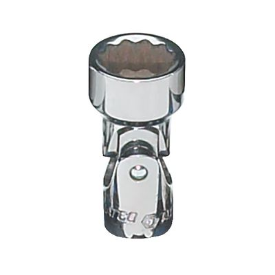 "1/4"" DRIVE 10MM METRIC 12 POINT UNIVERSAL CHROME SOCKET 
