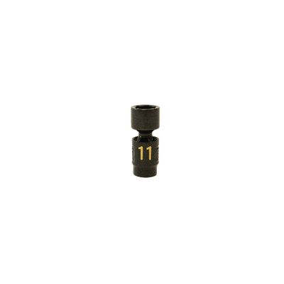 "1/4"" DRIVE 11MM METRIC 6 POINT UNIVERSAL IMPACT SOCKET 