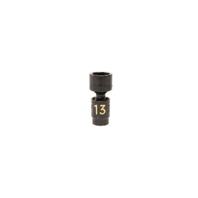 "1/4"" DRIVE 13MM METRIC 6 POINT UNIVERSAL IMPACT SOCKET 