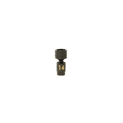 "1/4"" DRIVE 14MM METRIC 6 POINT UNIVERSAL IMPACT SOCKET 