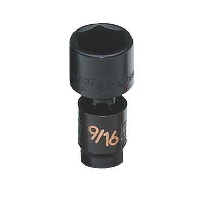 "1/4"" DRIVE 9/16"" SAE 6 POINT UNIVERSAL IMPACT SOCKET 