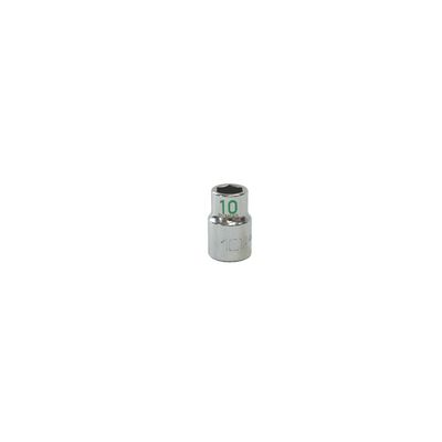 "3/8"" DRIVE 10MM METRIC 6 POINT CHROME SOCKET - GREEN 