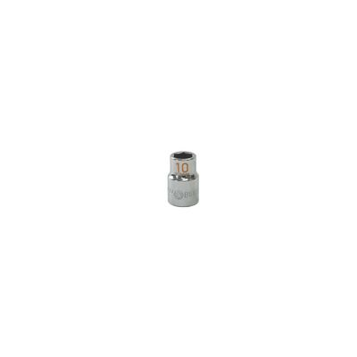 "3/8"" DRIVE 10MM METRIC 6 POINT CHROME SOCKET - ORANGE 