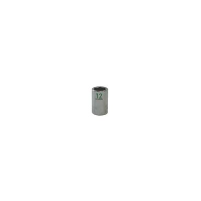 "3/8"" DRIVE 12MM METRIC 6 POINT CHROME SOCKET - GREEN 