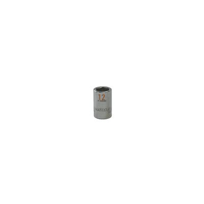 "3/8"" DRIVE 12MM METRIC 6 POINT CHROME SOCKET - ORANGE 