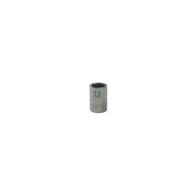 "3/8"" DRIVE 13MM METRIC 6 POINT CHROME SOCKET - GREEN 