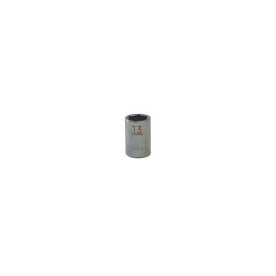 "3/8"" DRIVE 13MM METRIC 6 POINT CHROME SOCKET - ORANGE 
