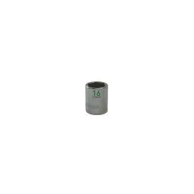 "3/8"" DRIVE 16MM METRIC 6 POINT CHROME SOCKET - GREEN 