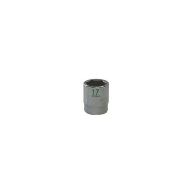 "3/8"" DRIVE 17MM METRIC 6 POINT CHROME SOCKET - GREEN 