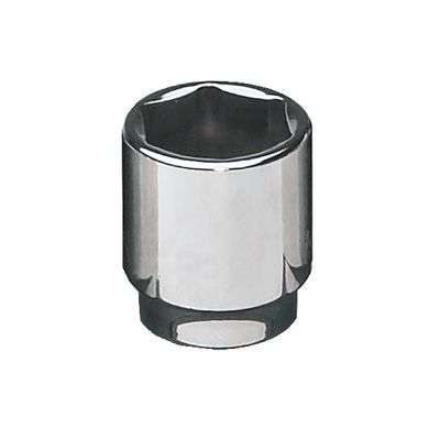 "3/8"" DRIVE 17MM METRIC 6 POINT CHROME SOCKET 