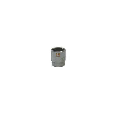 "3/8"" DRIVE 18MM METRIC 6 POINT CHROME SOCKET - ORANGE 