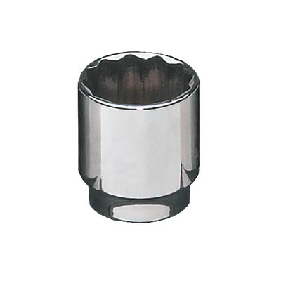 "3/8"" DRIVE 21MM METRIC 12 POINT CHROME SOCKET 