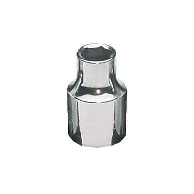 "3/8"" DRIVE 1/4"" SAE 6 POINT CHROME SOCKET 