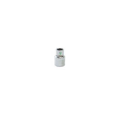 "3/8"" DRIVE 9MM METRIC 6 POINT CHROME SOCKET - GREEN 
