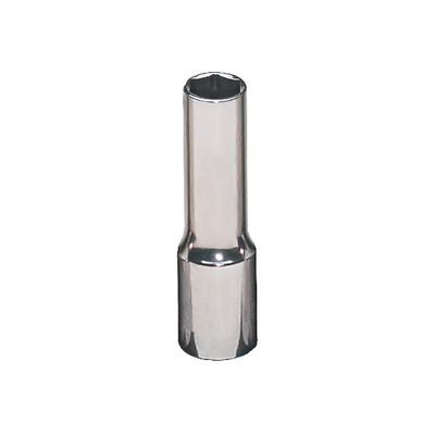 "3/8"" DRIVE 1/4"" SAE 6 POINT DEEP CHROME SOCKET 