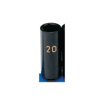 "3/8"" DRIVE 20MM METRIC 6 POINT DEEP IMPACT SOCKET 