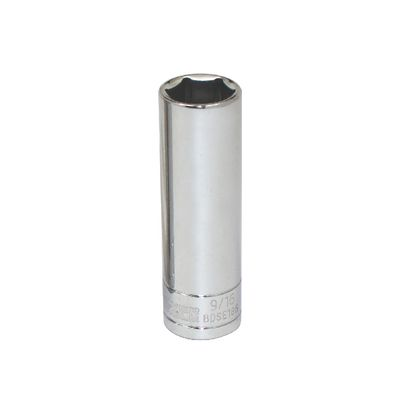 "3/8"" DRIVE SILVER EAGLE 9/16"" SAE 6 POINT DEEP CHROME SOCKET 