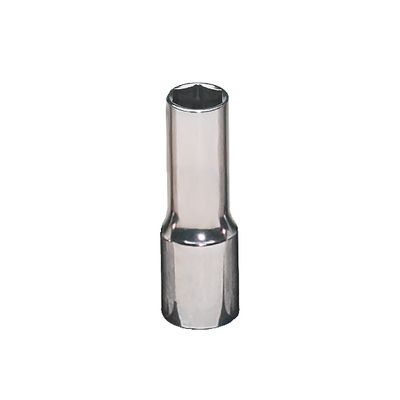 "3/8"" DRIVE 10MM METRIC MID-LENGTH 6 POINT CHROME SOCKET 