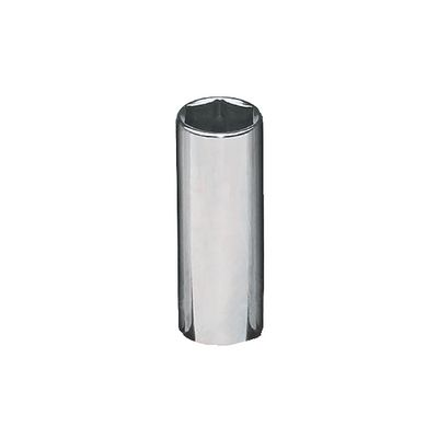 "3/8"" DRIVE 7/16"" SAE MID-LENGTH 6 POINT CHROME SOCKET 