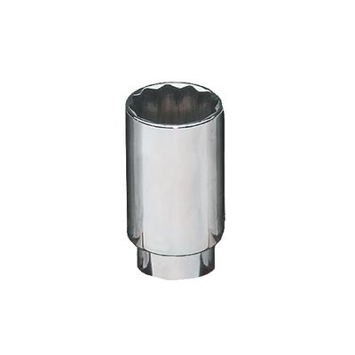 "3/8"" DRIVE 18MM METRIC MID-LENGTH 6 POINT CHROME SOCKET 