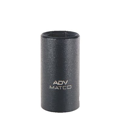 "3/8"" DRIVE 12MM METRIC 6 POINT MID-LENGTH IMPACT SOCKET 
