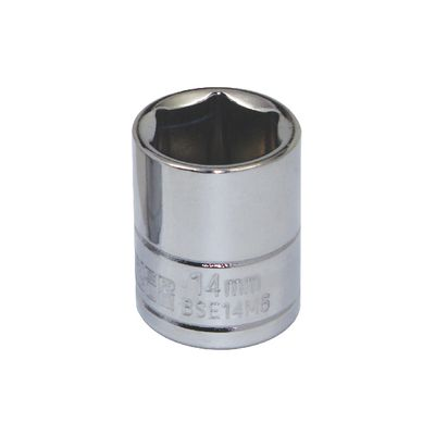 "3/8"" DRIVE SILVER EAGLE 14MM METRIC 6 POINT CHROME SOCKET 